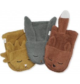 Konges Slojd Konges Slojd wash cloths animals boy 3-pack