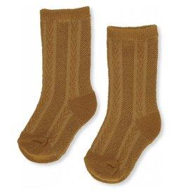 Konges Slojd Konges Slojd Fuma sock pointelle dark honey