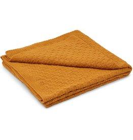 Liewood Liewood Urd baby blanket mustard 120x80