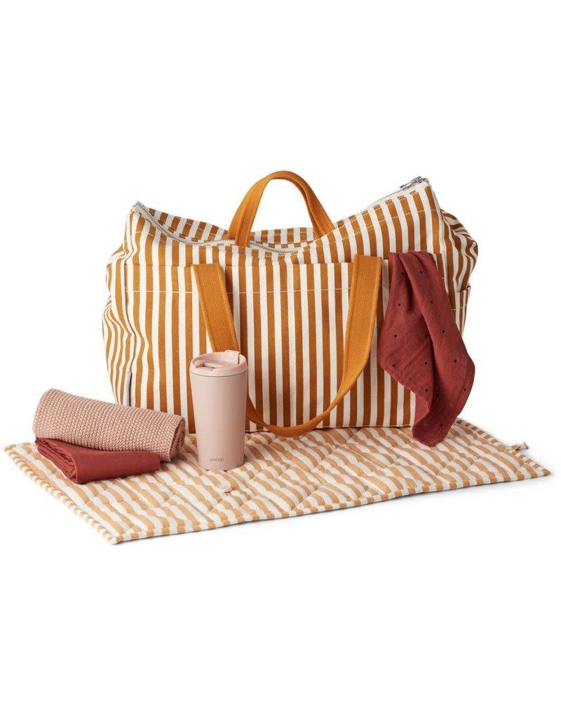Liewood Liewood Melvin mommy bag stripe mustard/creme de la creme