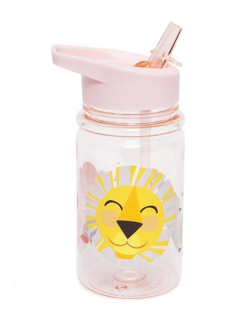 Petit Monkey Petit Monkey drinkfles lion pink