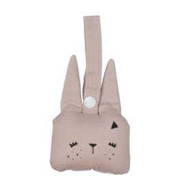 Fabelab Fabelab rammelaar bunny mauve