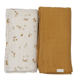 Fabelab Fabelab set of 2 swaddles woodland path