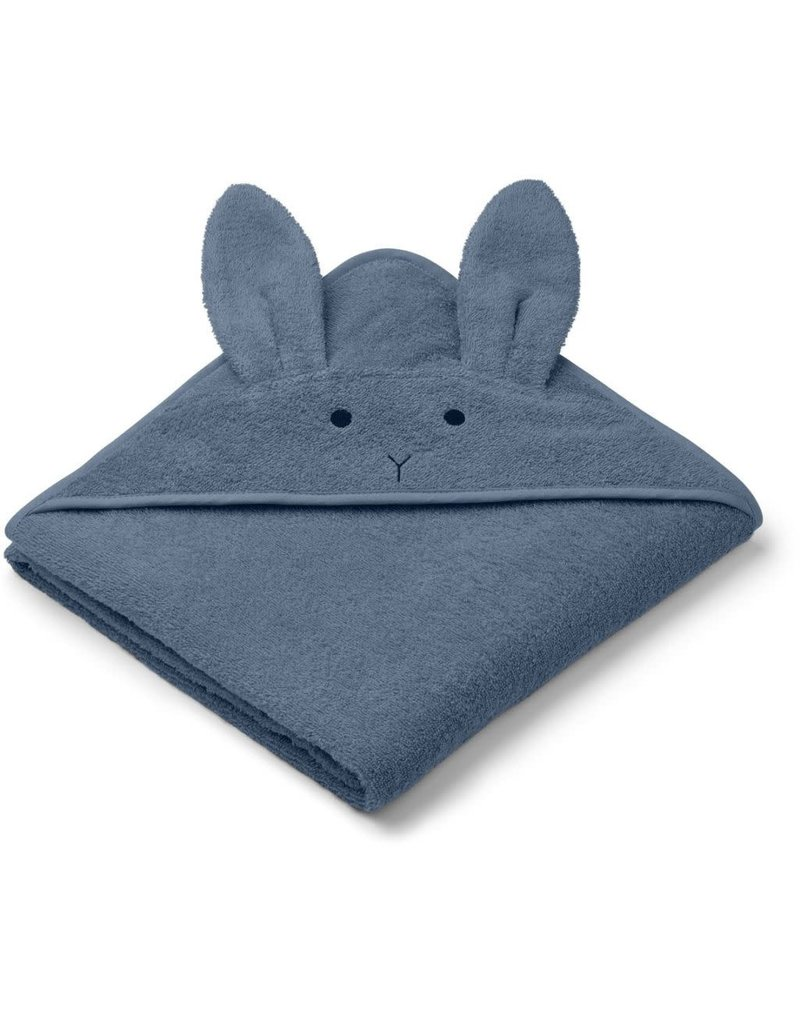 Liewood Liewood Augusta badcape 100x100 rabbit blue wave