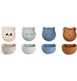 Liewood Liewood Rex snack bowl 4-pack blue mix