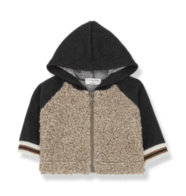 1 + in the family 1+ in the family Firenze hood jacket black/beige