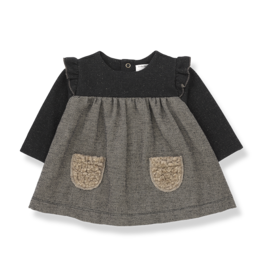 1 + in the family 1+ in the family Milano dress black/beige