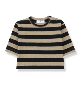 1 + in the family 1+ in the family Vienna longsleeve t-shirt black/beige