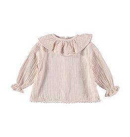Buho Buho Julieta cotton gauze blouse dust rose