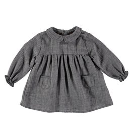 Buho Buho Clementine baby collar dress grey vigo
