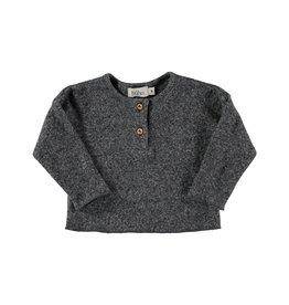 Buho Buho Dove soft rib henly t-shirt grey