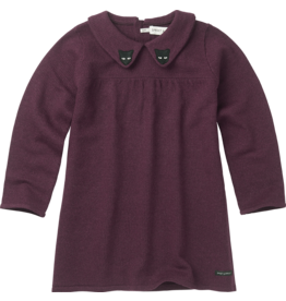 Sproet & Sprout Sproet & Sprout knitted dress cats burgundy