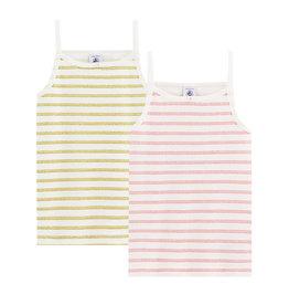 Petit Bateau Petit Bateau  set van 2 T-shirts met schouderbandjes