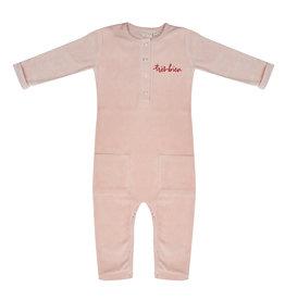 Little Indians Little Indians jumpsuit tres bien faded pink velour