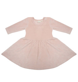 Little Indians Little Indians dress faded pink velour