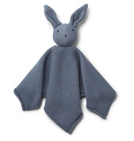 Liewood Liewood Milo knuffeldoek knit rabbit blue wave