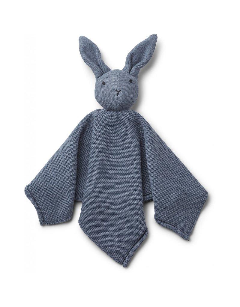 Liewood Liewood Milo knuffeldoek knit rabbit blue wave