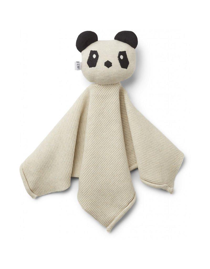 Liewood Liewood Milo knuffeldoek knit panda beige beauty