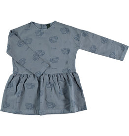 Bonmot Bonmot dress zebras deep blue