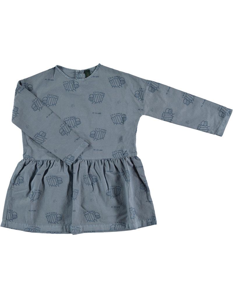 Bonmot Bonmot dress zebras deep blue