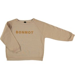Bonmot Bonmot ranglan sweatshirt maple sugar