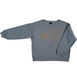 Bonmot Bonmot sweatshirt croco deep blue