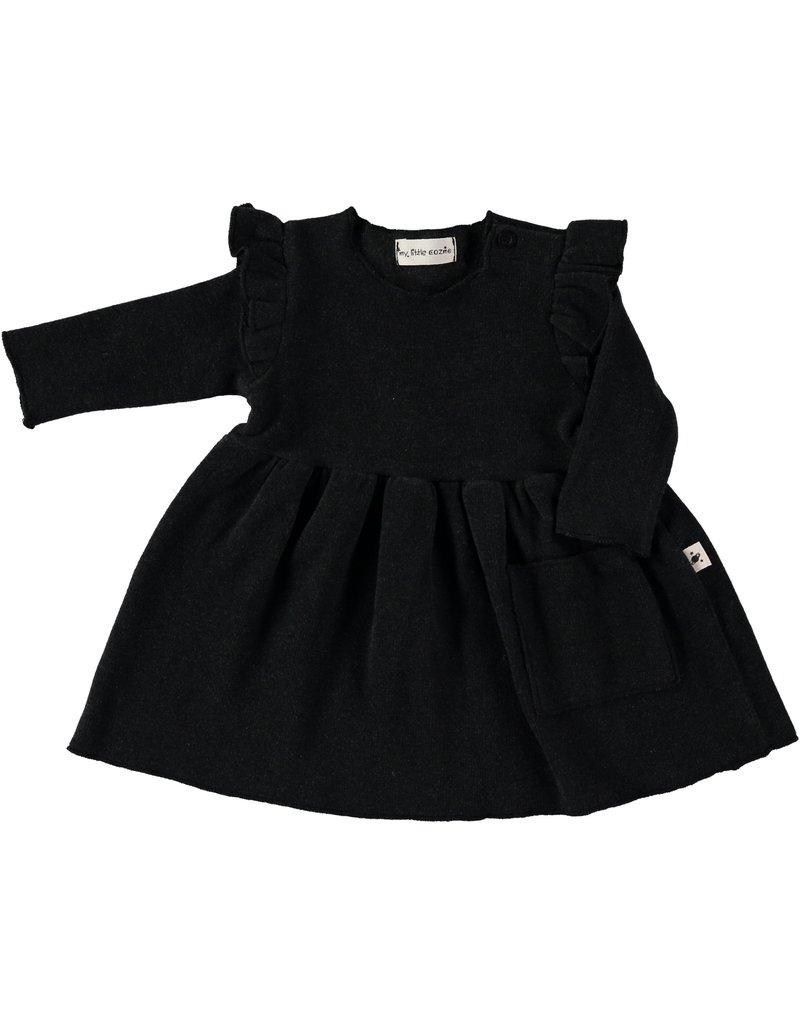 My Little Cozmo my little cozmo Stella dress darkgrey melange