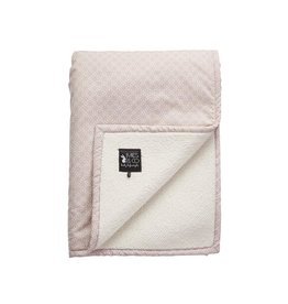 Mies & Co Mies & Co deken soft teddy pretty pearls chalk pink
