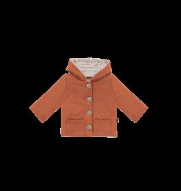 House of Jamie House of Jamie bow tie hooded jacket rust