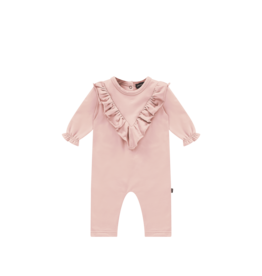 House of Jamie House of Jamie front ruffled jumpsuit powder pink