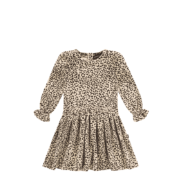 House of Jamie House of Jamie puff shoulder dress snow leopard