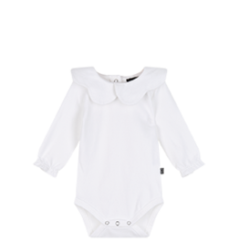 House of Jamie House of Jamie scallop bodysuit snow white