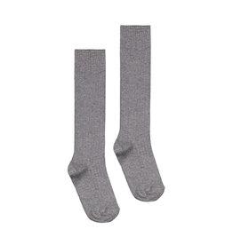 Gray Label Gray Label long ribbed socks grey melange