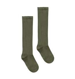 Gray Label Gray Label long ribbed socks moss