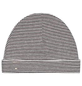 Gray Label Gray Label baby beanie nearly black/cream stripe