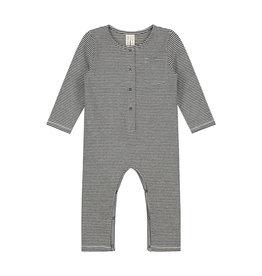 Gray Label Gray Label L/S playsuit nearly black/cream stripe