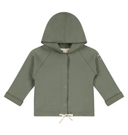 Gray Label Gray Label baby hooded cardigan moss