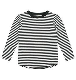 Gray Label Gray Label L/S striped tee nearly black/cream stripe