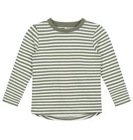 Gray Label Gray Label L/S striped tee moss/cream stripe