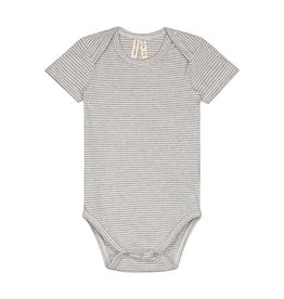 Gray Label Gray Label baby onesie grey melange/cream stripe