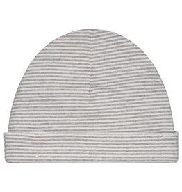 Gray Label Gray Label baby beanie grey melange/cream stripe