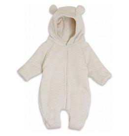 Konges Slojd Konges Slojd newborn onesie with hood caramel mini dots