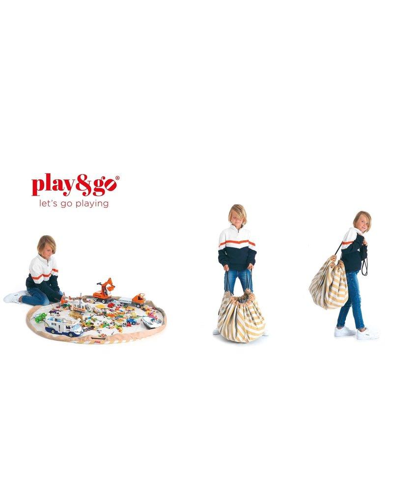 Play&Go Play&Go opbergzak stripes mustard