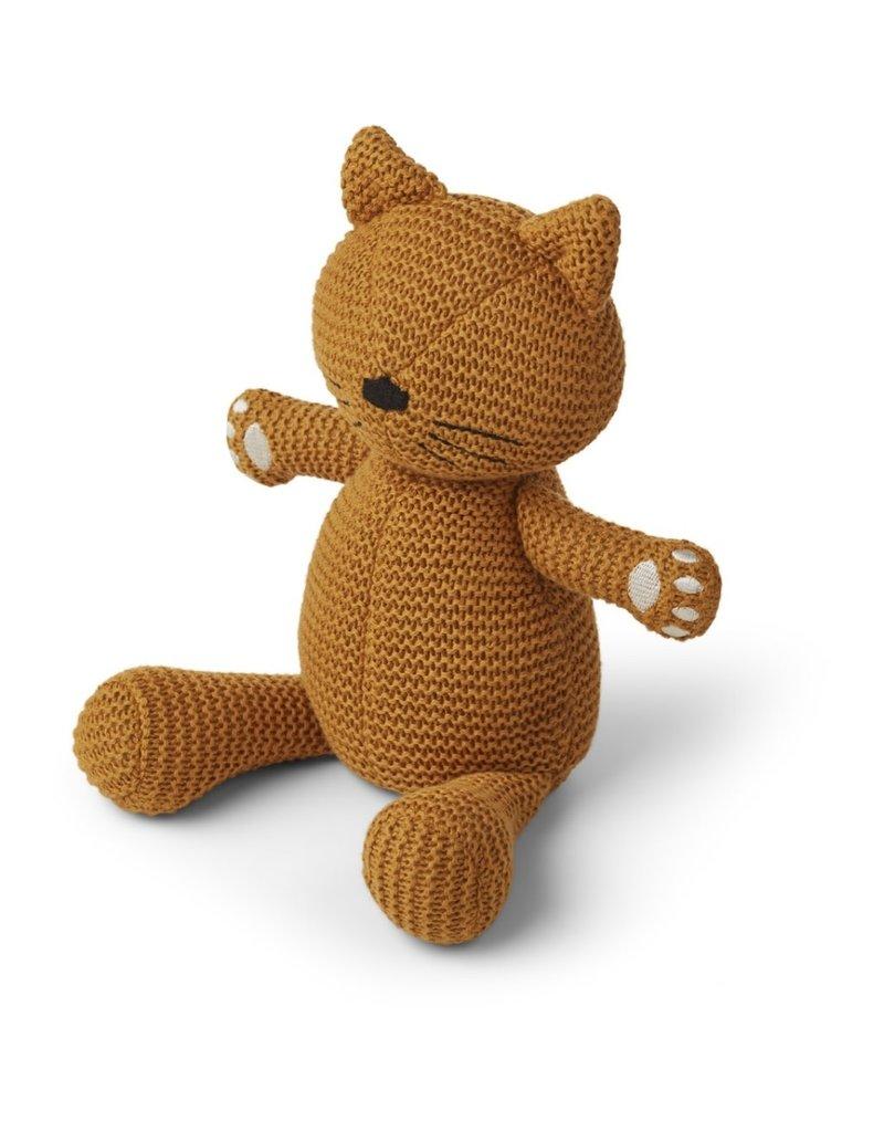 Liewood Liewood Missy knit teddy cat mustard