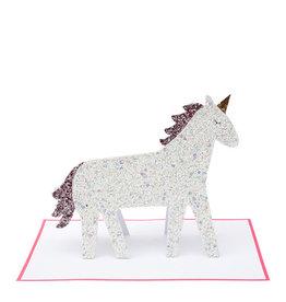 Meri Meri Meri Meri unicorn glitter stand-up card