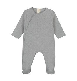Gray Label Gray Label newborn suit with snaps grey melange