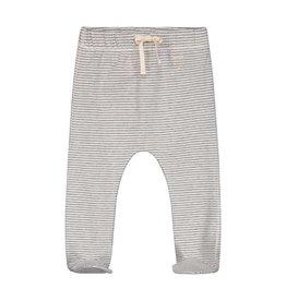 Gray Label Gray Label baby footies grey melange/cream stripe