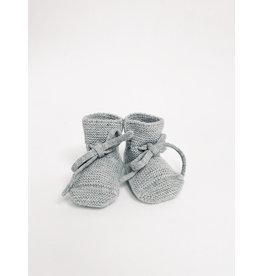 Hvid Hvid booties grey melange 0-12M