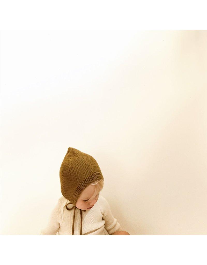 Hvid Hvid bonnet Dolly mustard