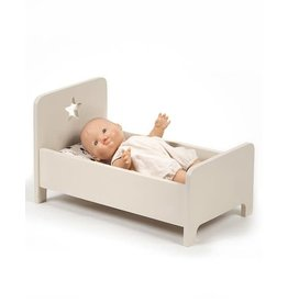 Minikane Minikane Doll bed wood taupe